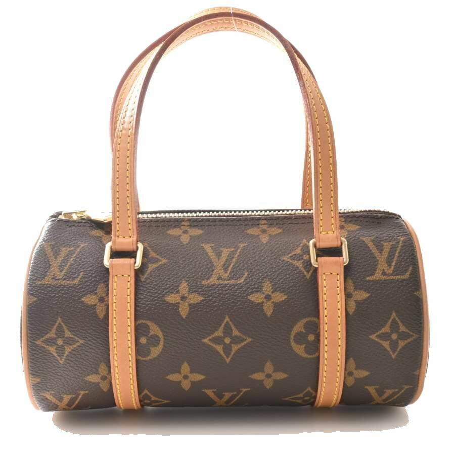 Louis Vuitton LOUIS VUITTON Monogram Papillon 19 Shoulder Bag Leather Brown PVC