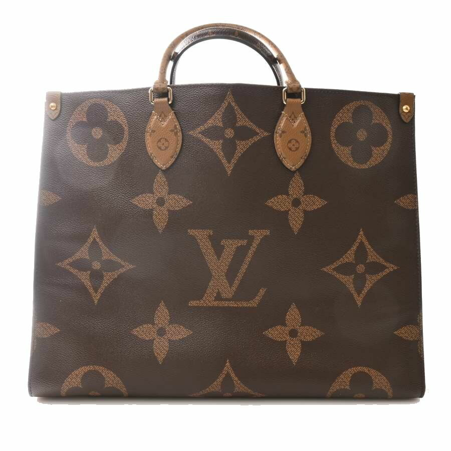 Louis Vuitton LOUIS VUITTON Giant Monogram Reverse on the Go GM Tote Bag Leather Brown PVC