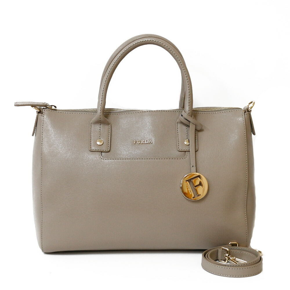 Furla Shoulder Bag Handbag Gray Women's Leather