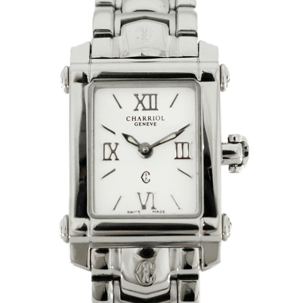 CHARRIOL SS Watch Columbus CCSTRD Silver White Ladies Stainless Steel