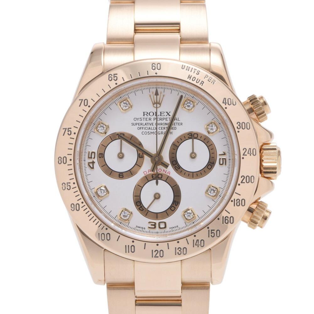 ROLEX Rolex Daytona 116528G Men's YG Stainless Steel Wrist Watch Automatic White Dial