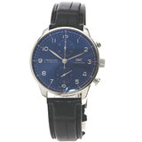 IWC IW371606 Portugieser Skeleton Watch Stainless Steel Leather Men's