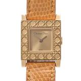 Christian Dior La Parisienne Ladies GP Leather Watch Quartz Champagne Dial