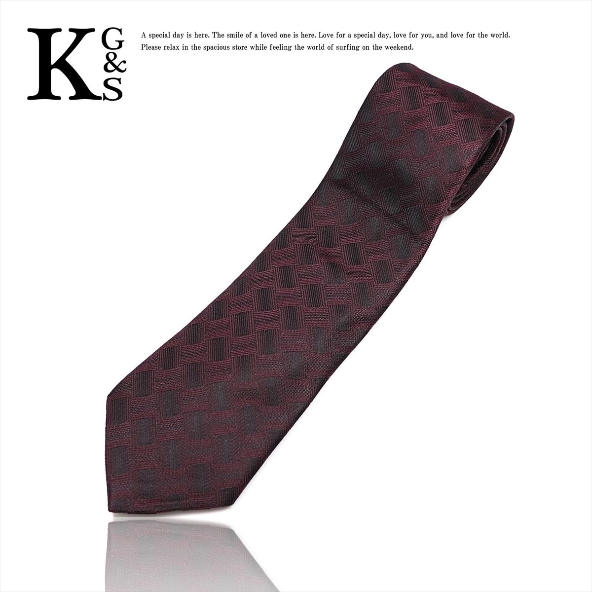 Bottega Veneta Intrecciato Cravat Silk Bordeaux