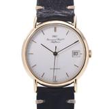 IWC SCHAFFHAUSEN Schaffhausen Portofino Boys YG leather watch self-winding white dial