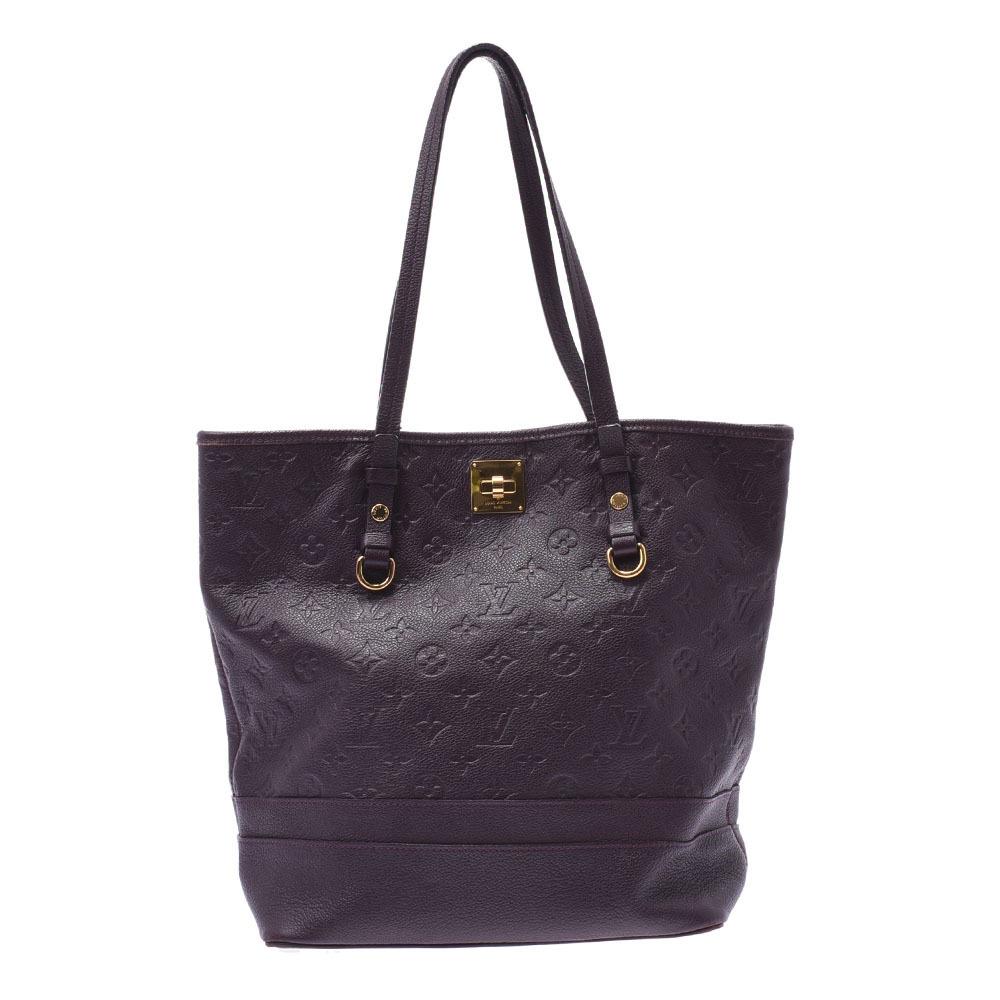 LOUIS VUITTON Monogram Amplant Citadin PM Oroll M94049 Ladies Leather Tote Bag