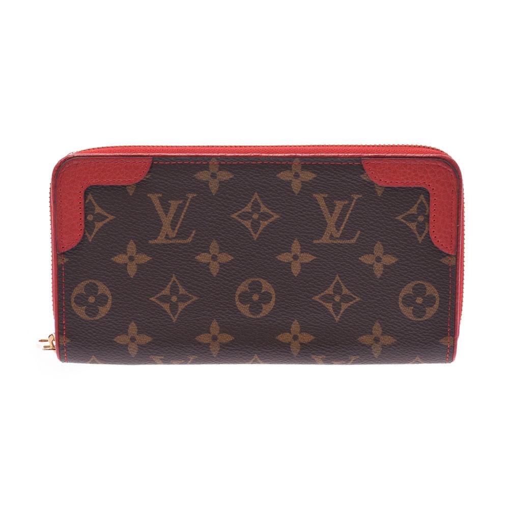 LOUIS VUITTON Monogram Zippy Wallet Retiro Threes M61854 Ladies Canvas Long Bi-Fold