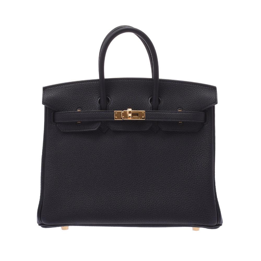 HERMES Hermes Birkin 25 black gold metal fittings Z engraved around 2021 Ladies Togo handbag