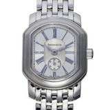 Tiffany Mark Coupe Ladies Watch 17035339 Stainless Steel Silver Roman Dial