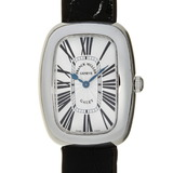 Franck Muller Galle Ladies Watch 3002LQZ Stainless Steel Silver Guilloche Roman Dial