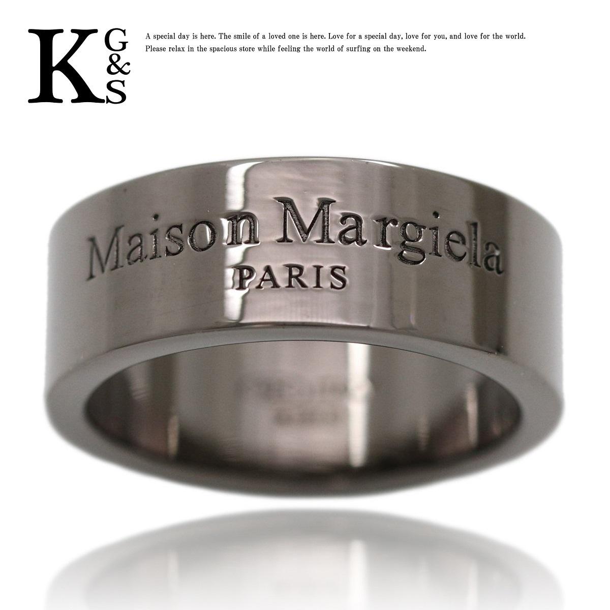 メゾン マルジェラ(Maison Margiela) シルバー925 カジュアル バンドリング ブラック ブラックメッキ