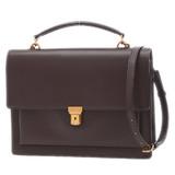 Saint Laurent Paris Large High School Satchel 2Way Bag Leather Bordeaux 434425