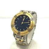 GIVENCHY ジバンシー ジバンシィ 腕時計 アナログ クォーツ PA.17.XVII シルバー ゴールド コンビ 文字盤ネイビー   メンズ レディース