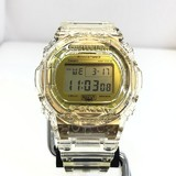 G-SHOCK ジーショック CASIO カシオ 腕時計 DW-5735E-7JR 35周年 35th Anniversary GLACIER GOLD グレイシアゴールド スティング デジタル クォーツ クリアスケルトン コレクション メンズ