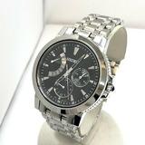 SEIKO セイコー 腕時計 アナログ クォーツ 5Y66-0AA0 インターナショナルコレクション デイト シルバー 文字盤ブラック  ステンレス メンズ