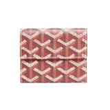 GOYARD bi-fold wallet mini red ladies men's leather