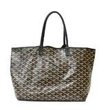 GOYARD Goyard Shoulder Bag Saint Louis PM Black Ladies Canvas Leather