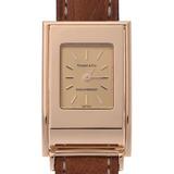 TIFFANY & Co. Tiffany Schlumberger Ladies YG Leather Watch Quartz Gold Dial