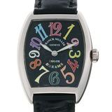Franck Muller Tono Carbex Color Dream Ladies Watch 7502QZ 750 White Gold Black Arabian Dial