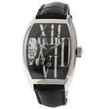 Franck Muller 9880SCDTGOTH Tonow Carbex Gothic Alonger Watch Stainless Steel Leather Men's