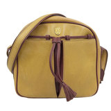 Cartier Shoulder Bag Leather Mustard Yellow
