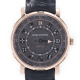 LOUIS VUITTON Louis Vuitton Escal Spin Time 20 Years New Q5EGA0 Men's PG Leather Wrist Watch Automatic Meteorite Dial