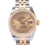 ROLEX Rolex Datejust 179173 Ladies YG Stainless Steel Wrist Watch Self-winding Champagne Dial