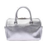 SAINT LAURENT Baby Duffle 2WAY Bag Silver Ladies Calf Handbag