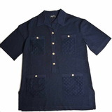 Chanel Rayon Coco Button Tunic Navy