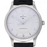 Zenith Class Elite Men's Watch 03.1125.679 / 02.C490 Stainless Steel Silver Arabian Dial