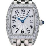 Franck Muller Tono Carbex Petit Diamond Ladies Watch 2500QZD 750 White Gold Silver Arabian Dial