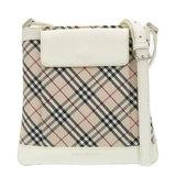 Burberry Nova Check Shoulder Bag Canvas Beige White