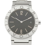 BVLGARI Bvlgari SS Watch BB3 Silver Black Ladies Stainless Steel