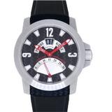 ピエール クンツ グランドデイト スポーツ G016 自動巻き 腕時計 SS/ラバー ブラック 黒文字盤 0064Pierre Kunz メンズ