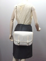 Goyard Belvedere heliborn pattern shoulder bag white
