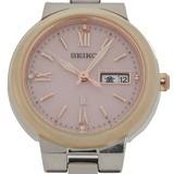 Seiko Lukia Ladies Watch V138-0AG0 Stainless Steel Pink