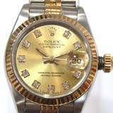 ROLEX Datejust 10PD Watch 69173G Gold Stainless Steel (SS) x Yellow Diamond