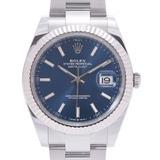 ROLEX Rolex Datejust 126334 Men's SS / WG Watch Automatic Bright Blue Dial