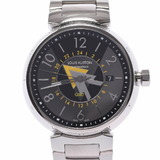 LOUIS VUITTON Louis Vuitton Tambour GMT Q1D31 Men's SS Watch Automatic Gray / Dial