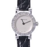 TIFFANY & Co. Tiffany Atlas S0640 Ladies SV925 / Leather Watch Quartz Silver Dial