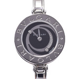 BVLGARI B-ZERO1 Diamond Bangle Watch BZ22S Ladies SS Quartz Dial