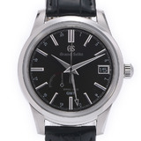 SEIKO Seiko Grand Spring Drive GMT SBGE227 Men's SS / Leather Watch Automatic Dial