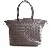 Bottega Veneta Intrecciato Leather Tote Bag Brown
