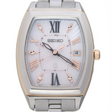 Seiko Lukia Ladies Watch SSQW032 Titanium Pink Shell Dial