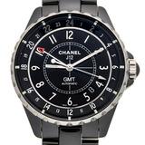 Chanel J12 GMT Men's Watch H3102 Black Ceramic Dial