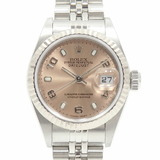 Rolex ROLEX Datejust Ladies 79174 Automatic K No. 2001 SS WG Watch White Gold Pink Dial