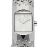Christian Dior SS Watch Bangle Dio Flick D96-100 Silver Ladies Stainless Steel