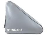 バレンシアガ(Balenciaga) BALENCIAGA バレンシアガ    トライアングルM クラッチバッグ セカンド レザー グレー