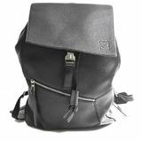 LOEWE leather puzzle rucksack backpack black