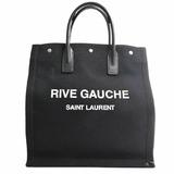 Saint Laurent Cotton Rive Gorge Tote Bag Black
